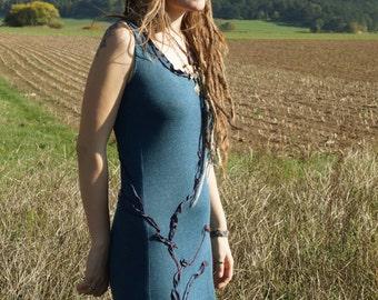 entwined seaweed soft knit dress