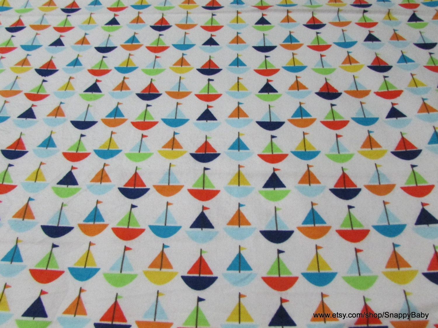 Flannel fabric baby sailboats by the yard 100 for Baby fabric by the yard