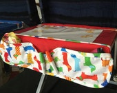 Airplane Tray Activity Cover,  air travel tray Pockets, kids games on airplane, air travel germ protection