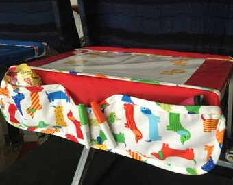 Airplane Tray Activity Cover with Pockets, and Games in Flight.
