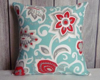 Aqua Blue Pillow. Pillow Cover. Blue Red Pillow. Owl Pillow. Car Pillow. Aqua Pillow