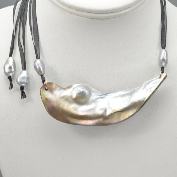 Mabe Pearl Necklace: Mabe Pearl Necklace Chinese Freshwater Pearl Necklace By