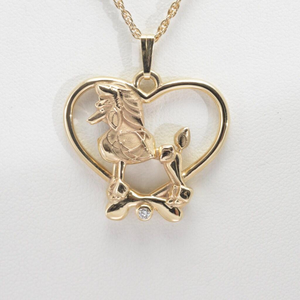 14k gold poodle necklace fr donna pizarro s