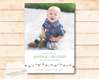 Christmas Lights // Holiday Photo Card