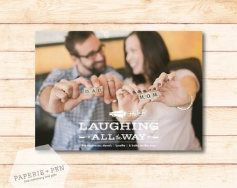 Laughing all the Way  // Holiday Photo Card