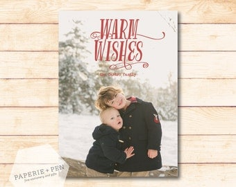 Warm Wishes  // Holiday Photo Card