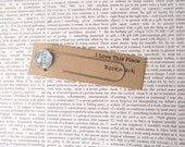 Toronto, Canada map bookmark: paper clip style page marker made with an original map featuring Oshawa too. Gift idea for brother, boyfriend