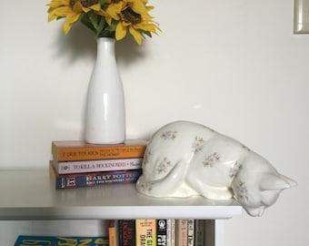 Porcelain Floral Cat