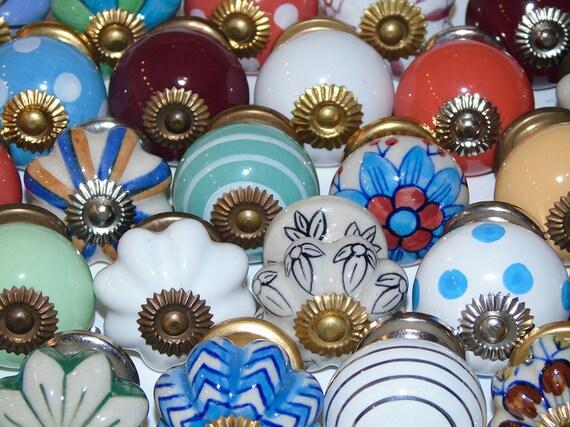 bulk lot of 25 mixed decorative ceramic door knobs by trincaferro. Black Bedroom Furniture Sets. Home Design Ideas
