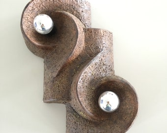 Brown stone wall light