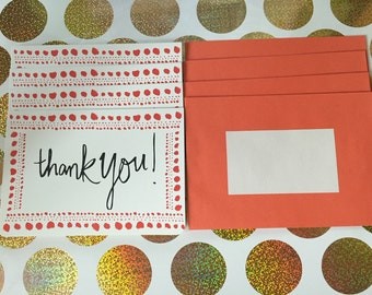 Thank You Cards + Envelopes