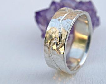 Silver wedding ring two engraved waves  ocean ring silver wave ring  mens  wedding bandmens wedding ring flat silver ring silver wedding band. Cool Mens Wedding Rings. Home Design Ideas
