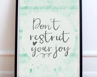 Happy Sayings - Inspirational Art - Printable Quotes - Modern Office - Desk Decor - Printable Wall Art - Joyful Art Digital Download