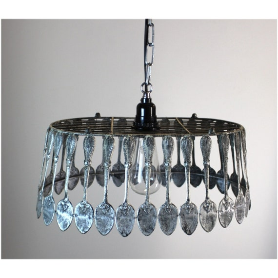 Spoon Chandelier Pendant Light Fixture Ceiling Mounted Aged