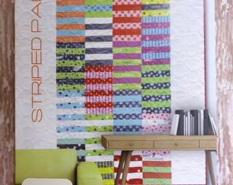 Striped Paint Quilt Pattern - Zen Chic - Brigitte Heitland - Moda - SRQP