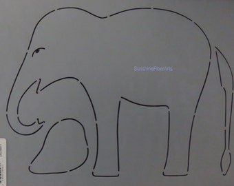 Stencil - Elephant - Edyta Sitar - Laundry Basket Quilts - Moda - LBQ-0567-T