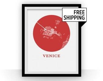 Venice Map Print - City Map Poster