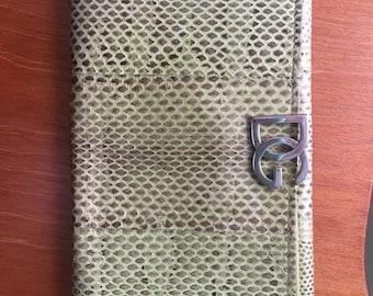 Vintage Dolce & Gabanna snakeskin wallet