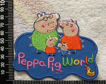 Peppa Pig World Iron on Patch Peppa Pig Applique CD160