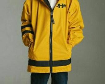 Kids Charles Rivers Monogrammed Rain Jacket/Boys Rain Coat/Girls Rain Coat/Charles Rivers/New Englander Rain Jacket/Youth/Personalized/Rain