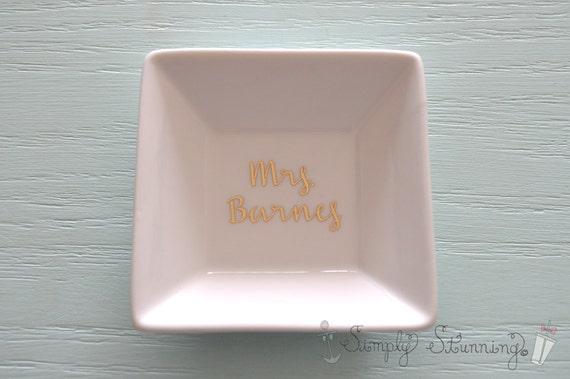 Personalised Wedding Gift Ring Dish : Personalized Ring Dish, wedding gift, engagement gift, Jewelry dish ...