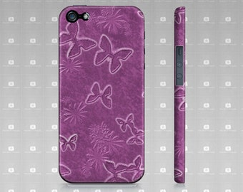 Pink iPhone 5 Case, Pink Butterfly iPhone 5 Case, Slim Protective iPhone Case Fits iPhone 5 and iPhone 5s, Artist Designed Custom Printed