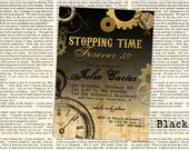 "SteamPunk Stopping Time Forever 39, 49, 59, 29, etc. Birthday Invitation - 5"" x 7"" JPG file for a 30th, 40th, Adult Birthday Party"
