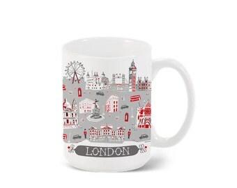 London Mug-City Mug-Coffee-Tea-Kitchen-Custom City Mug Gift-Mug Packaging-Personalized-Custom