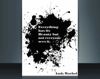Andy Warhol pop art top quality poster print (up to A0 size) design typography print or canvas