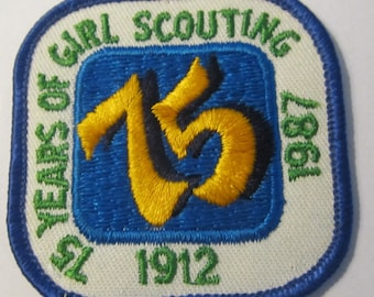 Vintage 75th Anniversary of Girl Scout Patch circa 1987