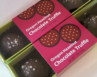 Oregon Hazelnut Chocolate Truffle 2 x 2 oz.