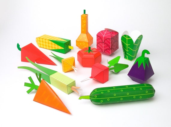 3d paper fruit craft vegetables diy paper craft kit 3d paper toys colourful 3299