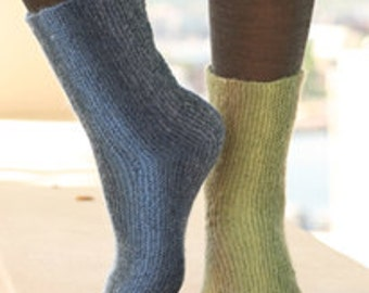 handknitted socks, drops design, made to order, your color, your size, garter stitch
