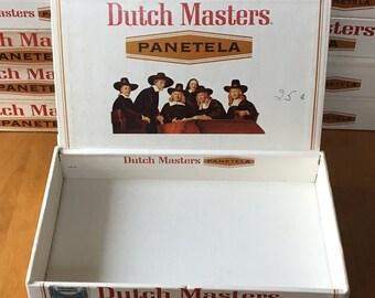 "Vintage 1970's Dutch Masters ""Panetela"" Cigar Box(es), Vtg Storage Box, Vtg Craft Box, Vtg Cigar Box"