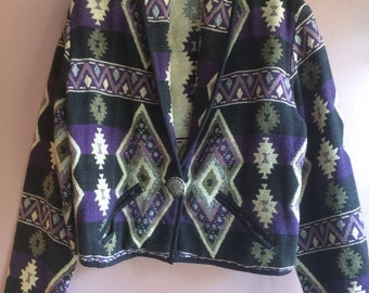 1990's cropped tapestry jacket