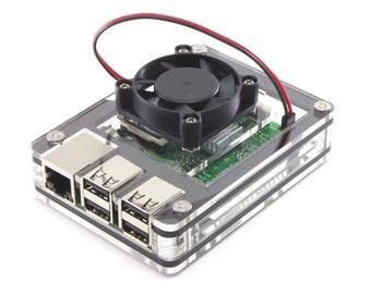 Zebra Fan Top Upgrade for Raspberry Pi 3 2 B+ Fan included
