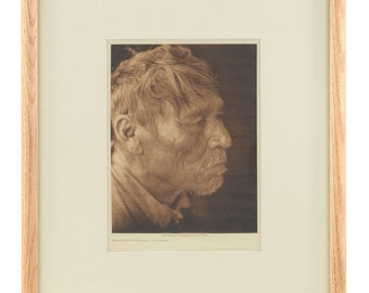 Chipewyan  -original 1926 Native Tissue Gravure Photograph by Edward Curtis