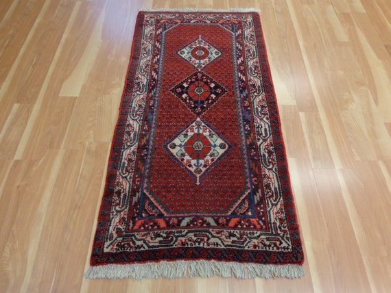 Persian rug vintage rug red rug oriental by for A treasury of persian cuisine