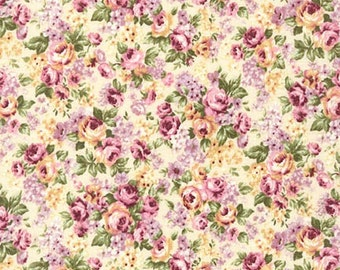 Emma 2- Packed Bouquet/Primrose by Robert Kaufman - Cotton Fabric Fast Shipping F666