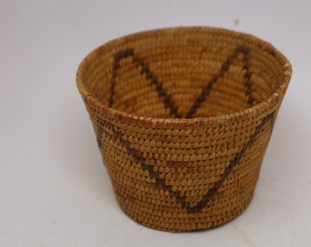Vintage Papago Basket - 1930s Vintage  Native American Basket - Native American Textile - Antique Basket