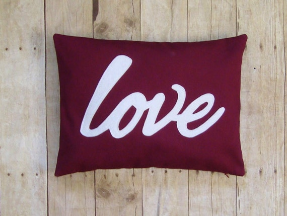 Love pillow - cover - pillow with love - wine love pillow - pillow with words - love decor - love -  writing on pillow cover