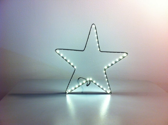 Star metal light electric 28cms - luminous Decoration led