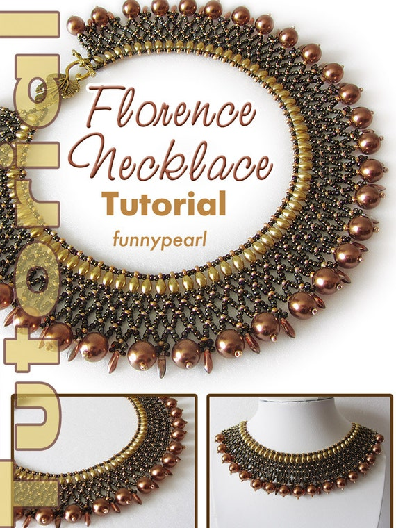 Necklace Florence Tutorial Pdf From Funnypearl On Etsy Studio