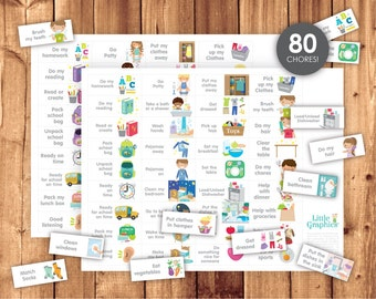 Chore and Routine Cards / Printable High Quality Pack / Boy & Girl