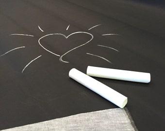 Black chalkboard fabric