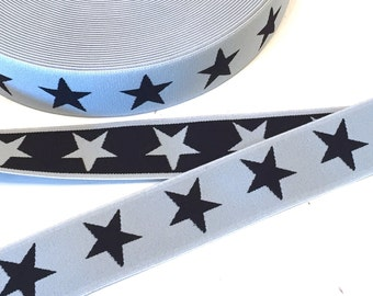 """wide rubber band """"Stars"""" 4 cm"""