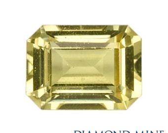A Beautiful NaturalSapphire 1.12 Yellow Emerald Cut AA