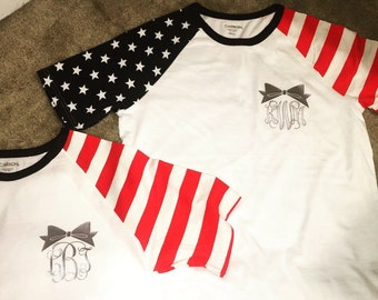 Fourth of july independence monogram usa america