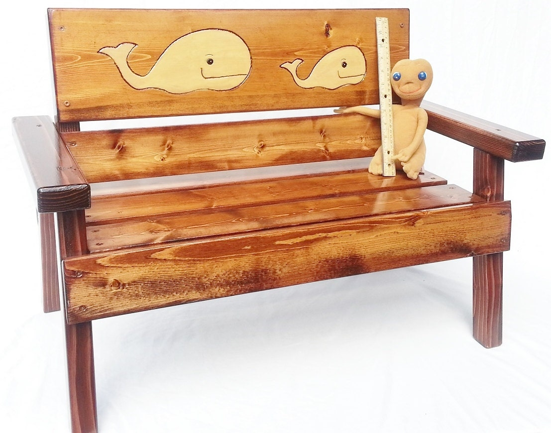 Kids outdoor patio bench childrens furniture reclaimed wood for Outdoor furniture benches