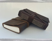 Small Leather Longstitch Journal/Sketchbook (Arches Text Wove Paper)